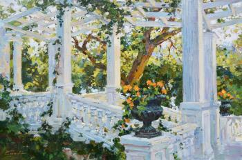 Foros. Staircase with columns. Eskov Pavel