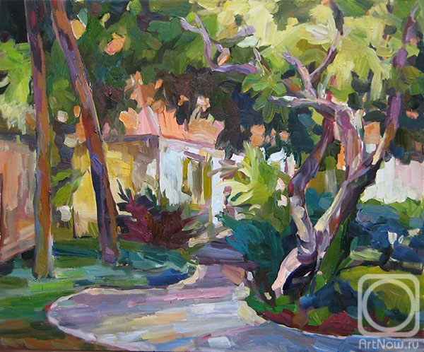 Bocharova Anna. A path among lush vegetation