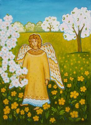 Angel in the spring garden. Razumova Lidia