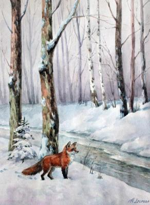 In the winter forest. Norenko Anastasya