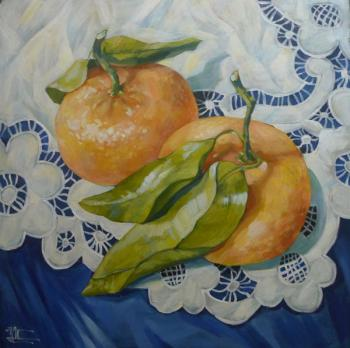 The tangerines in them. Panina Kira