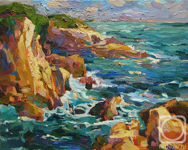 Bocharova Anna. Rocky shore in Costa Brava