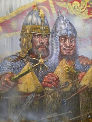 Molodinskaya battle. Governor, Prince Ivan Shuisky, and the foreman of a Temir Alalykina. Doronin Vladimir