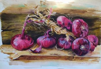 Red onion. Simonova Olga