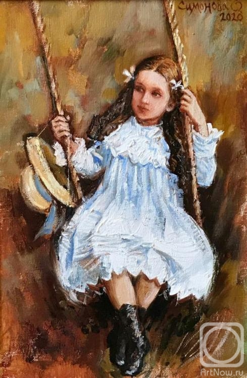 Simonova Olga. Girl on a swing