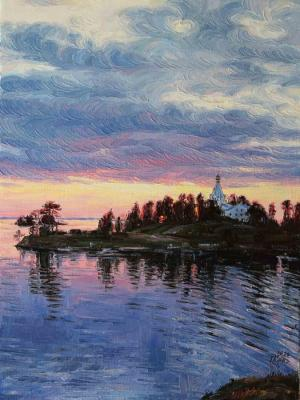 Sunset on Valaam. Krasovskaya Tatyana