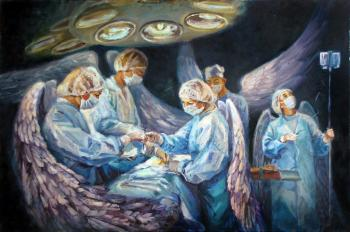 "Just ""Angels in white coats"" (although in blue)"