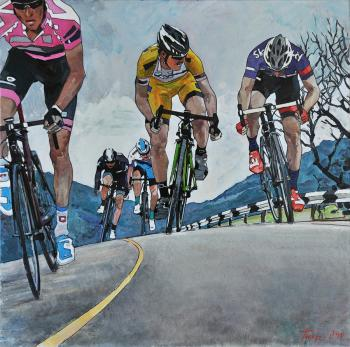 Bicycle race. Tyutrin Peter