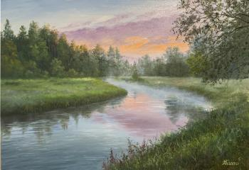 Morning on the river (The Russian Landscape). Kogay Zhanna