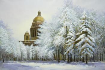St. Isaac's Cathedral. Winter lace. Kamskij Savelij