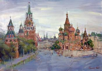 View of Red Square and Pokrovsky Cathedral. Poluyan Yelena