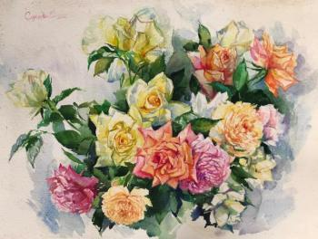 Roses (Sketch From Nature). Simonova Olga