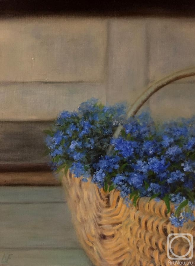 Fomina Lyudmila. Forget-me-nots in the basket