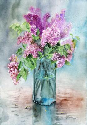 Bouquet of lilac turquoise. Sukhova Natalya
