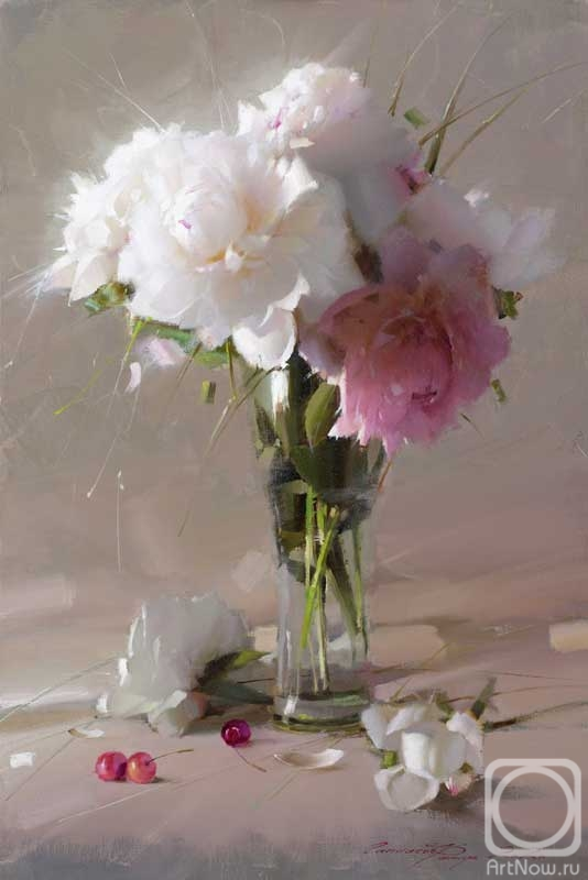 Gappasov Ramil. Still life with peonies