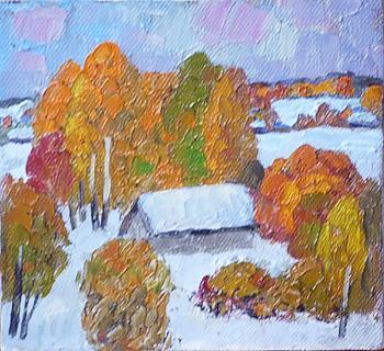 Snow in October (sketch). Berdyshev Igor