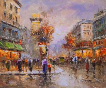 Landscape of Antoine Blanchard Paris. Street of Saint-Denis. Vevers Christina