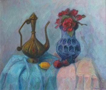 Still life with blue vase. Zaitseva Anastasia