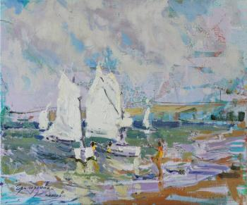 Sketch of a sailboat. Grigorieva-Klimova Olga