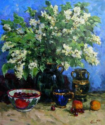 A bouquet of bird cherry flowers. Malykh Evgeny