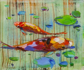 Carp Koi. Japanese goldfish for luck N14. Rodries Jose