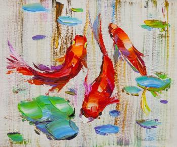 Carp Koi. Japanese goldfish for luck N15. Rodries Jose