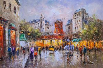 Parisian landscape by Antoine Blanchard. Le Moulin Rouge. Vevers Christina