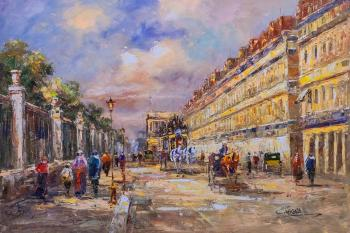 Landscape of Paris by Antoine Blanchard. Rue de Rivoli (Copy Of A Picture E). Vevers Christina