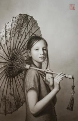 Sonya with Umbrella. Rodzin Dmitry