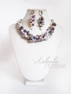 "Jewelry set ""Baltic silver"". Lavrova Elena"