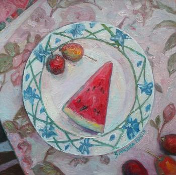 Still life with watermelon. Zaitseva Anastasia