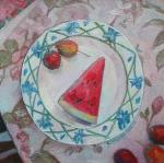 Zaitseva Anastasia. Still life with watermelon