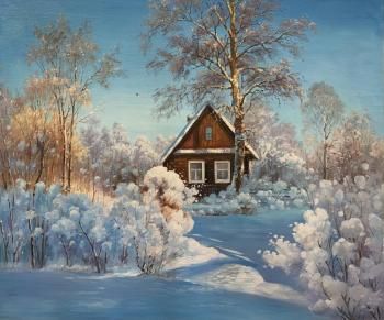 House in the village in winter. Romm Alexandr
