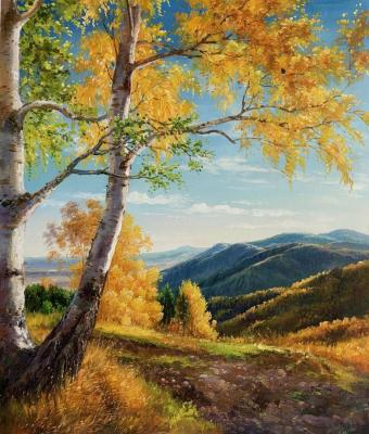 There is a birch at the edge. Romm Alexandr