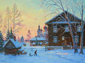 Winter evening in Goritsy. Alexandrovsky Alexander