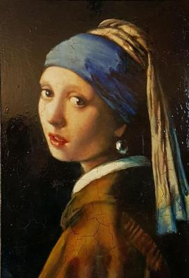 Girl with a pearl earring. Copy (Copy To Order). Zorina Irina