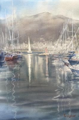 Leaving the harbour. Andreychenko Natalia