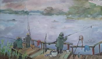 Fishing in the fog (Tranquility). Kleymenova Elena