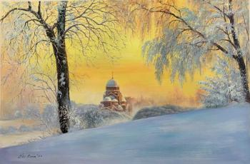 Early in the morning at dawn ... In Murinsky Park, St. Petersburg. Romm Alexandr