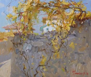 In the shade of the old grape. Tyunkin Aleksandr