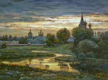 Golden evening. Panov Eduard