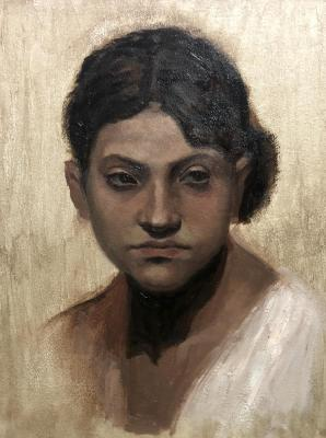 "Копия работы John Singer Sargent ""Head of a Capri Girl"""