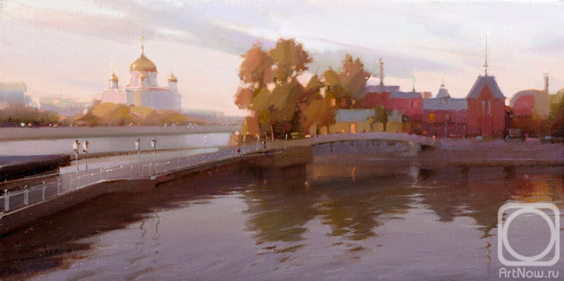 Gappasov Ramil. Moscow. The evening at the Crimean embankment