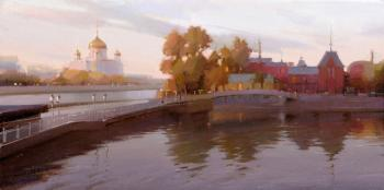 Moscow. The evening at the Crimean embankment. Gappasov Ramil