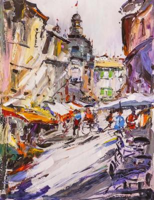Walking around a noisy city ... Traveler's sketches. Rodries Jose