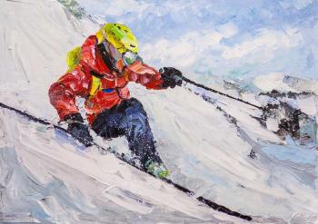 Skier. On the slopes of Everest N2. Rodries Jose