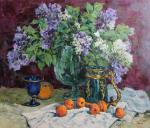 Malykh Evgeny. A bouquet of lilac and fruits
