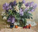 Malykh Evgeny. A bouquet of lilac with fruits