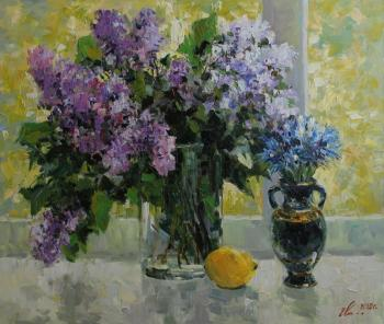 The bouquets of lilac and cornflowers. Malykh Evgeny
