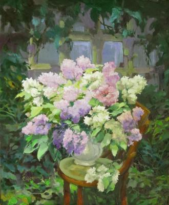 Lilacs in the garden. Vedeshina Zinaida